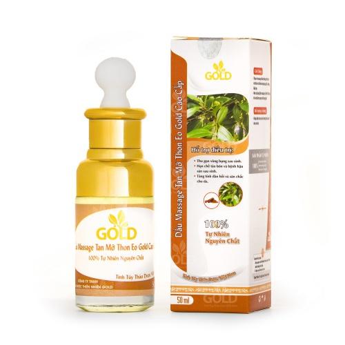 Dầu Massage Tan Mỡ Thon Eo Gold Cao Cấp