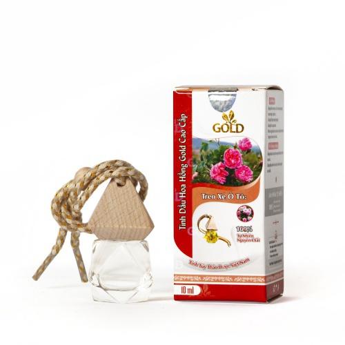 Tinh Dầu Hoa Hồng Gold Cao Cấp (Treo Xe Ô Tô)